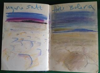 Salar de Uyuni in Bolivia from my South American Sketchbook